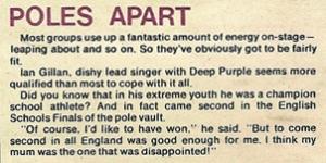 ian gillan in jackie magazine 1971