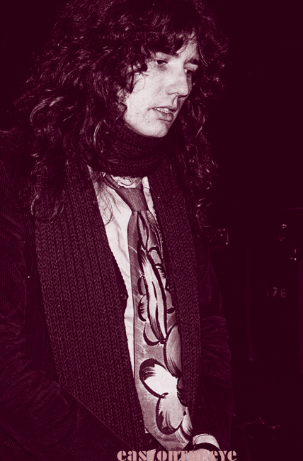 David Coverdale off stage during rehearsal 1978