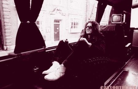 David Coverdale on Whitesnake tour bus