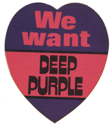 We Want Deep Purple sticker