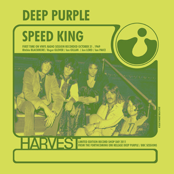 Deep Purple record store day single Speed King