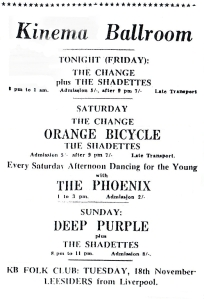 Deep Purple Advert Kinema