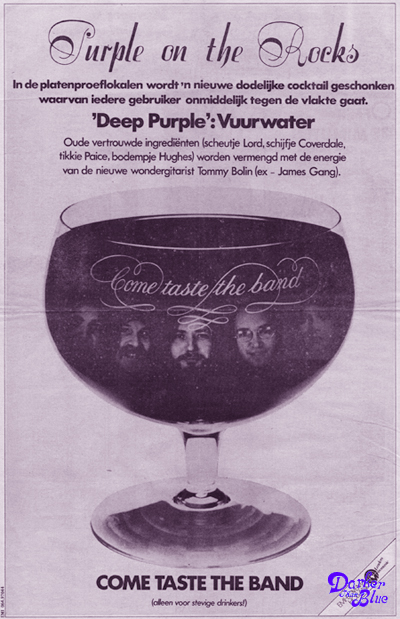 Come Taste The Band - Dutch press advert, 1975