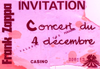frank zappa ticket casino montreux 1971 smoke on the water