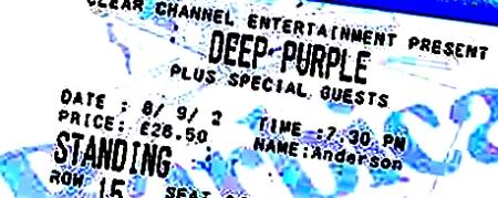 deep purple special guests