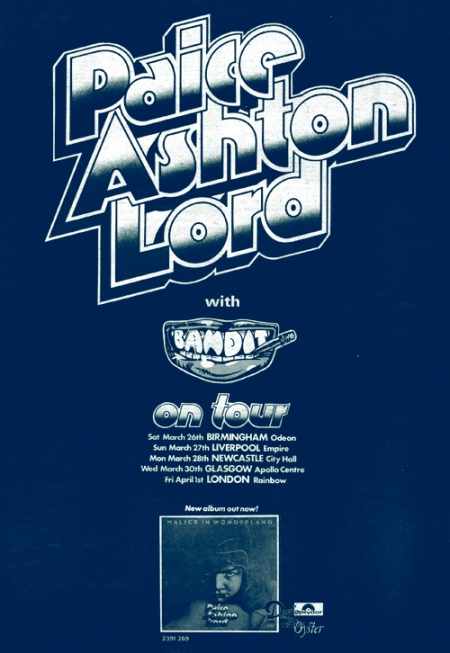 paice ashton lord uk tour advert 1977