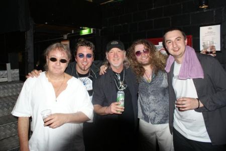 purpendicular with Ian Paice and Roger Glover backstage