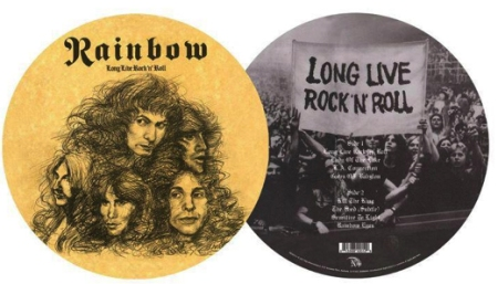 long live rock n roll rainbow picture disc
