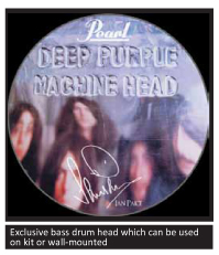 ian paice drum head limited edition signature kit