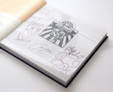 Deep Purple California Jam book signed by Ritchie Blackmore