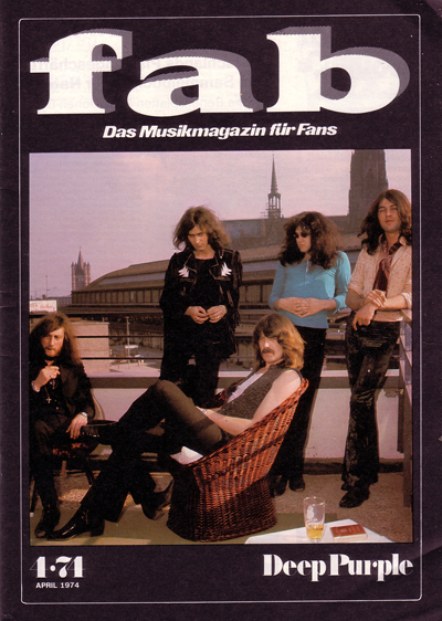 Deep Purple on the cover of Fab magazine in Germany 1974