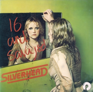 Silverhead 16 & Savaged album sleeve Purple Records 1973 reissue