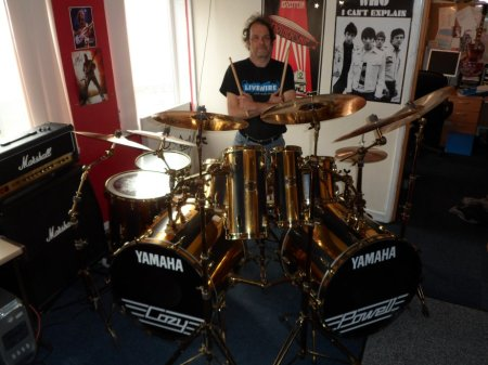 Cozy Powell drum kit Tonny Steenhagen