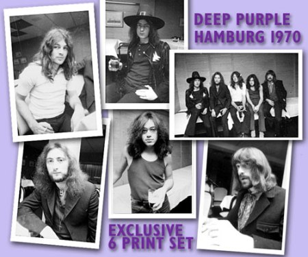 Deep Purple Hamburg 1970 photograph set