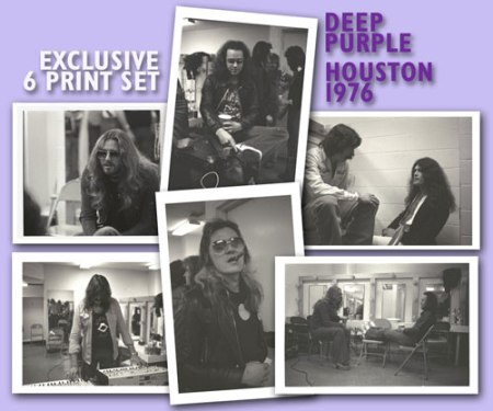 Deep Purple Houston 1976 photograph set