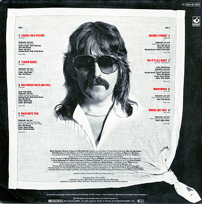 Jon Lord Before I Forget solo album 1982