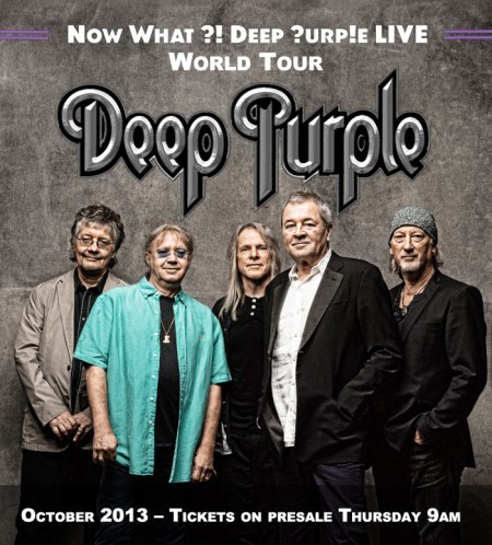 NOW What tour advert Deep Purple