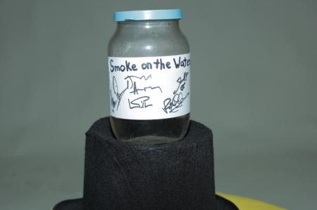 deep purple smoke on the water jar