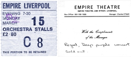 Deep Purple Liverpool Empire Theatre 1976