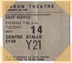 Newcastle Odeon ticket