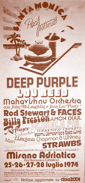 deep purple santa monica festival italy 1974