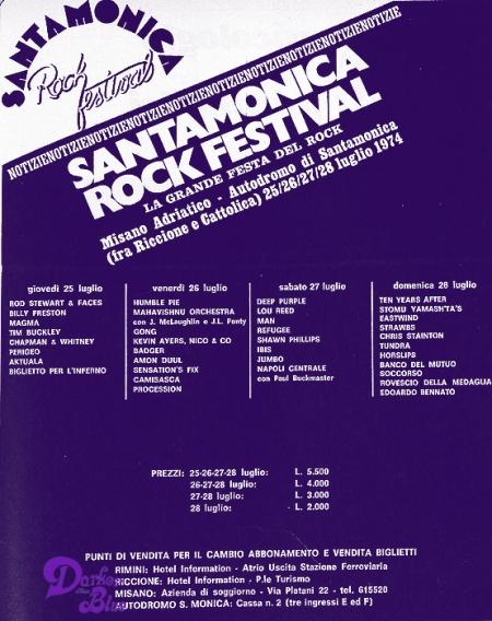 deep purple santa monica festival italy 1974