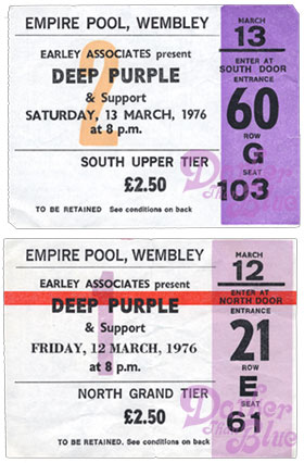 Deep Purple Wembley 1976