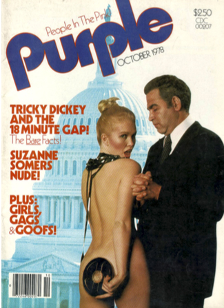 Purple magazine cover
