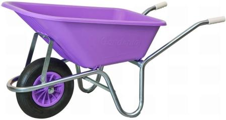 Purple wheelbarrow