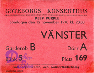 Deep Purple Gothenburg 1970