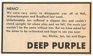 Deep Purple Bradford 1970