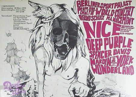 Deep Purple Peace Pop World poster March 1970