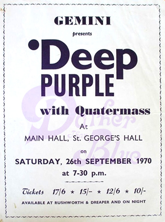 Deep Purple St. Georges Hall Liverpool 1970