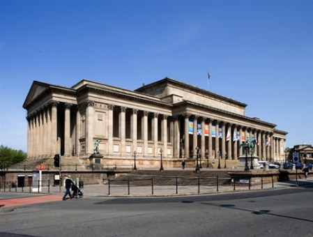 St Georges Hall outside