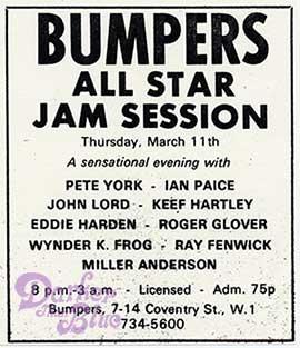 Jon Lord, Ian Paice, Roger Glover Bumpers Club