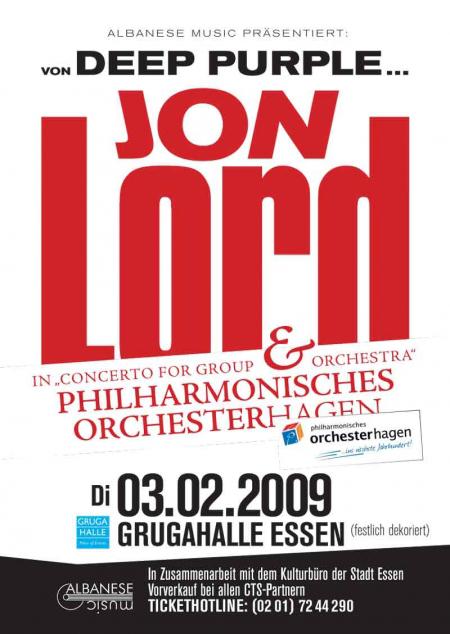 Jon Lord Essen 2009 poster