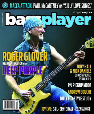 Roger Glover bass player magazine