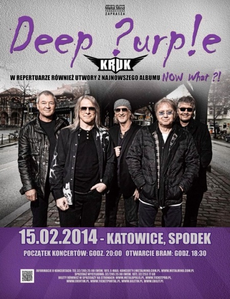 Deep Purple poland flyer 2014