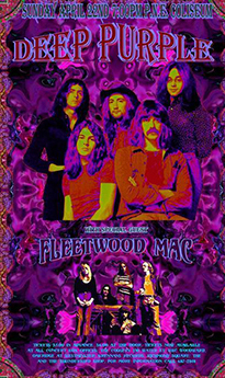a fake vintage deep purple poster