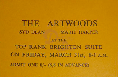 Jon Lord The Artwoods Brighton 1967