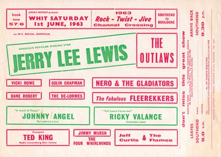 Blackmore The Outlaws Jerry Lee Lewis flyer