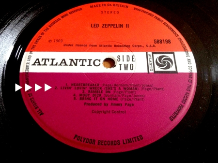 Led Zeppelin Deep Purple title misprint