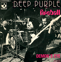 Deep Purple Fireball single sleeve France