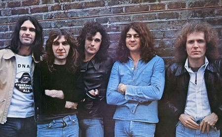 Ian Gillan Band, with John far left