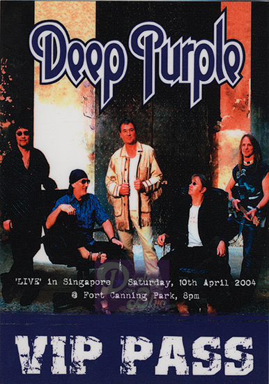 Deep Purple Singapore April 2004 pass