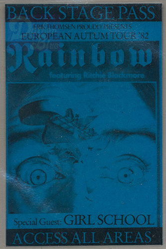 Rainbow European Tour November 1982