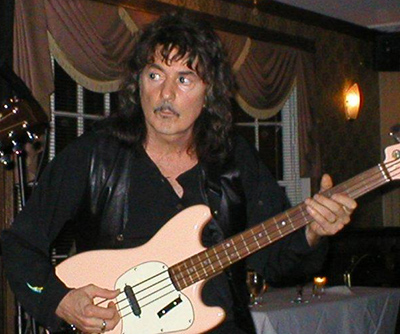 Ritchie Blackmore pink bass guitar