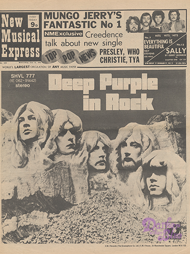 Deep Purple In Rock NME June 13 1970
