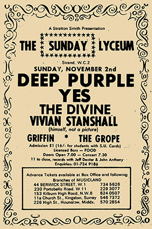 Yes, Deep Purple, Lyceum London 1969