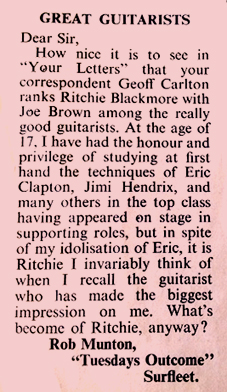 Ritchie Blackmore best guitarist